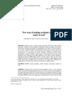 Hartley, 2012 Nuevas formas de redctar artículos académicos faciles de leer