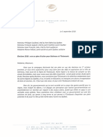 Lettre du maire de Gatineau aux chefs de parti