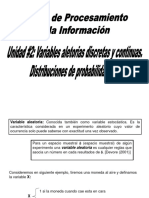 Unidad #2 Variables Aleatorias Distribuciones de Probabilidad