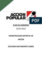 Plan de Gobierno Acción Popular Ancón