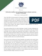 06.09 Déclaration Commune Entre Les Dirigeants Français, Allemand, Américain, Canadien Et Britannique