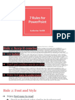 7 rules of powerpoint