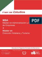 Plan de Estudios - MBA & Master en Direccion Hotelera y Turismo