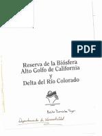 Programa de Manejo RB Alto Golfo de California y Delta Del Río Colorado 1995