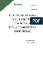 El fuel Oil y sus efectos corrosivos