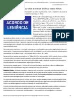 MPF Divulga Estudo Técnico Sobre Acordo...Itos — Procuradoria-Geral Da República