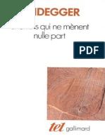 Heidegger - Chemins qui ne menènt nulle part.pdf