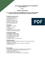 Temario Para Especialidad UNAM 2018