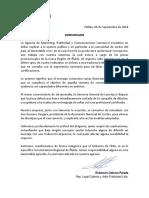 Comunicado Agencia Lunetas
