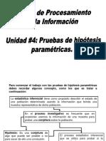 Unidad #4 Pruebas de Hipótesis Paramétricas