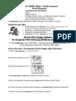 study guide map proj and fertile crescent