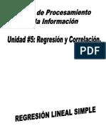 Unidad #5 Regresión y Correlación