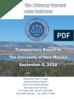2018 UNM Transparency Report