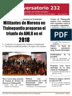 Conversatorio 232 No. 1, Enero 2018