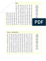 Animal Word Search