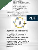 INFORMÁTICA  PERIFÉRICOS DE ENTRADA/SALIDA