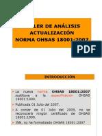 Taller de actualización OHSAS 18001 2007 Robinson.ppt