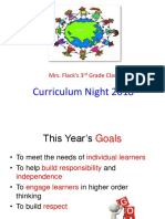 Curriculum Night 2018