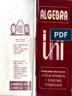 Algebra - Problemas Teoria de Exponentes - Cesar Vallejo