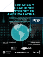 Gobernanza y Regulaciones de Internet en America Latina