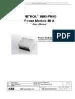 UNITROL1000-PM40 User's Manual E Reva