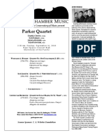 Parker Quartet Program Notes