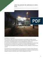 04-09-2018-Concesionarios Paran Hoy Servicio de Camiones en Varios Municipios de Sonora - Elimparcial