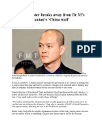 Deputy minister breaks away from Dr M