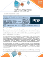 Syllabus Del Curso Fundamentos en Gestión Integral