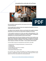 Lectura Sobre Internacionalización de Pymes Peruanas