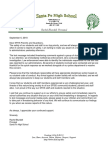 Santa Fe High letter to parents