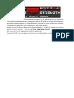 Gaglione Strength 6 Week Peaking Program