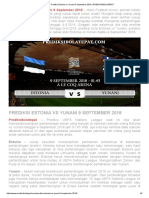 Prediksi Estonia vs Yunani 9 September 2018