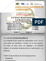 2.3. y 2.4 Ciclos Biogeoquímicos - 2.4. Biodiversidad