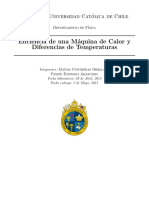 Eficiencia de Una Maquina de Calor y Diferencias de Temperaturas