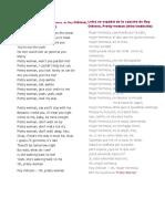 Letra de La Canciones Traducidas