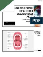 Tonsilitis Kronik Hipertrofi Eksaserbasi Akut