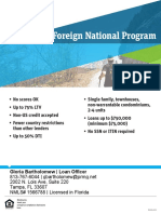 Foreign Nationals Loan Programs Available