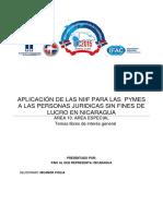 Las Niif Pyme y Las Entidades Sin Fines de Lucro Con Seudonimo - Investigación Cont. 2015
