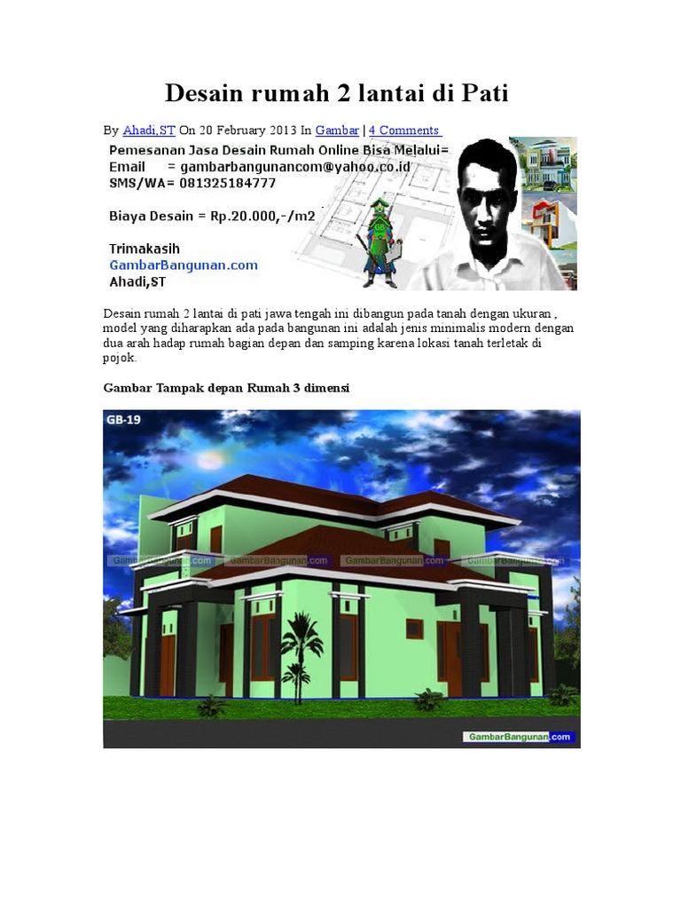 Desain Rumah 2 Lantai Di Pati Pdf