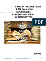 DSE English Past Paper Questions Sorted by Types