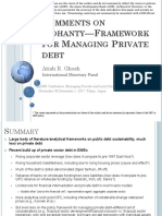 Comments on Framework for Managing Private Debt