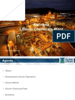 Talison Lithium Overview of Chemicals Plant