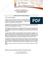 Compte-rendu Du Conseil Des Ministres - Jeudi 6 Septembre (2)
