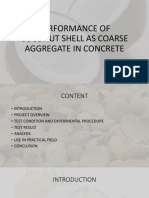 PERFORMANCE OF COCONUT SHELL AS COARSE AGGREGATE IN.pptx