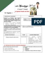SESIÓN N° 15-LA IGLESIA PUEBLO DE DIOS-5TA-U-2018