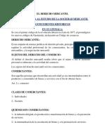 El Derecho Mercantil Resumen