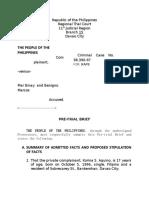 Pre Trial Brief Criminal Sample2