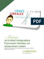 Funciones Lineales actividad integradora