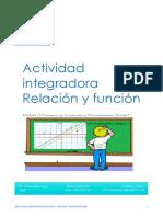 actividad integradora  Relación y Función